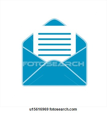 Clip Art Of Mail Icons Letter Paper Mail Letter Envelope Icon
