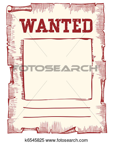 Clipart Of Vector Wanted Poster Image On White K6545825   Search Clip