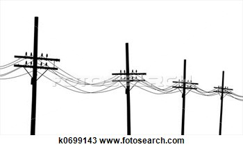 Drawing   Telegraph Poles  Fotosearch   Search Clipart Illustration