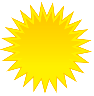 Free Clipart Of Sun Clip Art Of A Bright Shining Yellow Sun