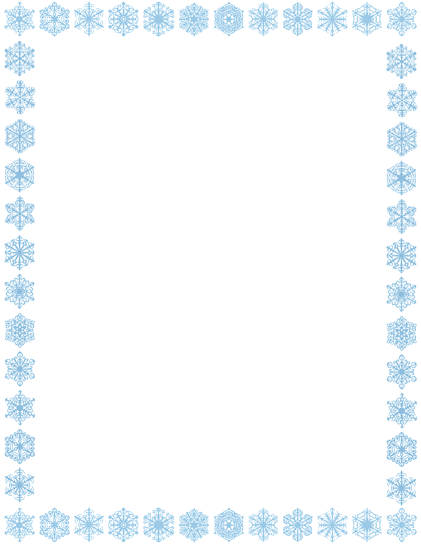 Winter Borders Microsoft Clipart - Clipart Kid