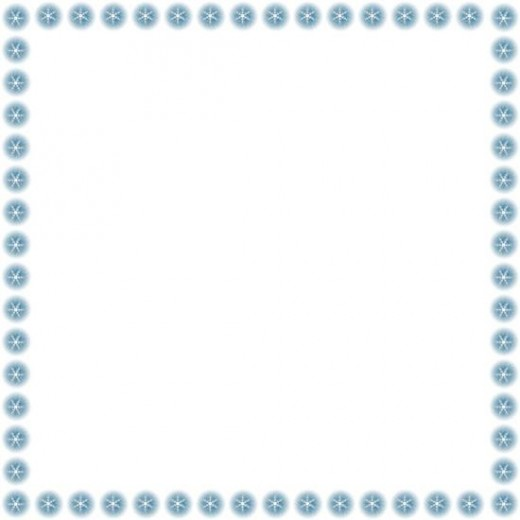 Free Snowflakes Clip Art Frame   Right Click Image   Save As