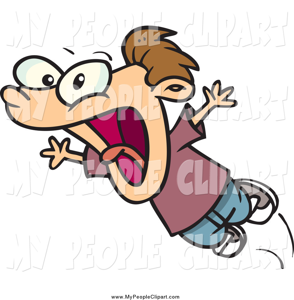 No Screaming Clipart Clip Art Of A Cartoon