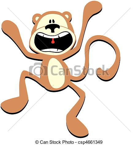 No Screaming Clipart Panic Screaming Monkey