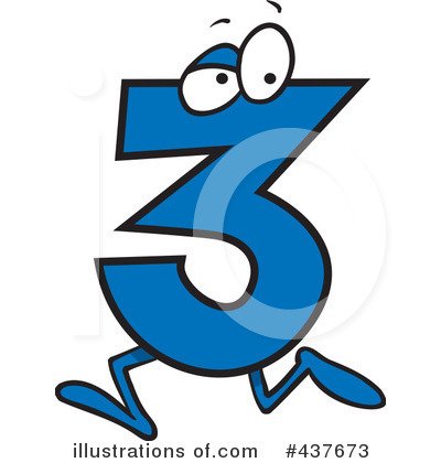 Number Three Clipart  437673 By Ron Leishman   Royalty Free  Rf  Stock