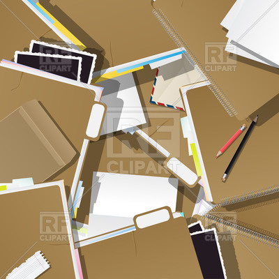 Office Supplies Background   Pile Of Folders Download Royalty Free