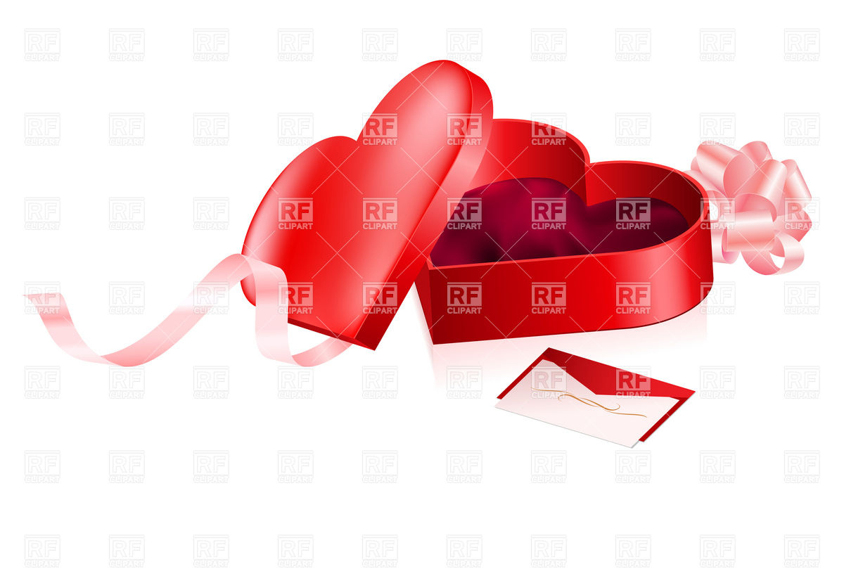 Open Gift Clipart Red Open Gift Box In Heart