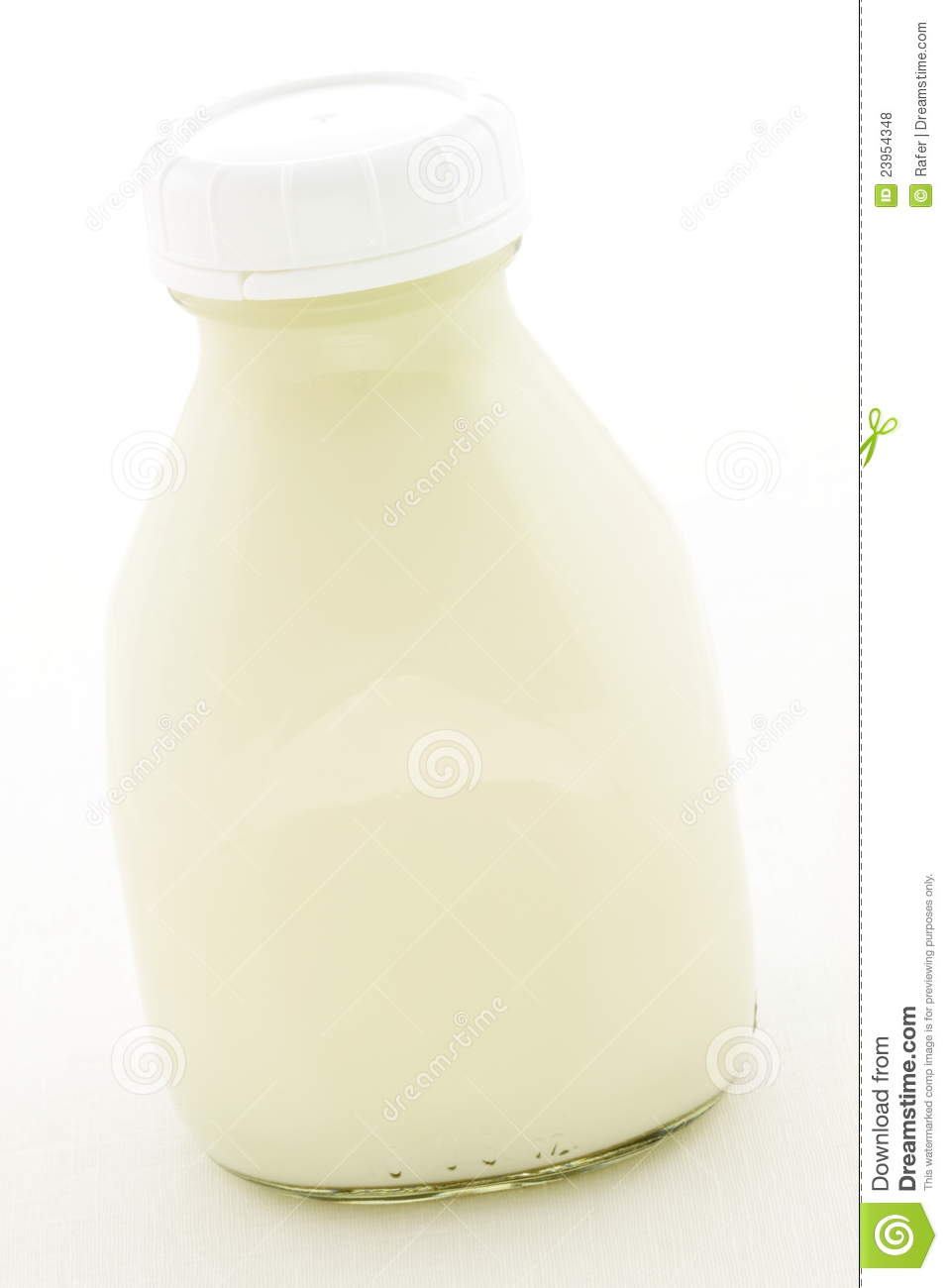 Pint Glass Milk Bottle Royalty Free Stock Photos   Image  23954348