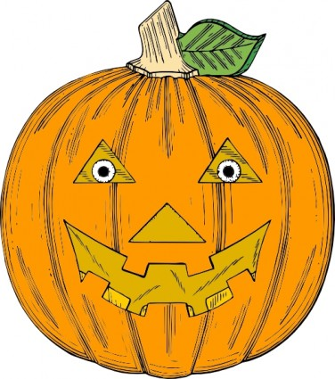 Pumpkin Face Clip Art Free Vector In Open Office Drawing Svg    Svg