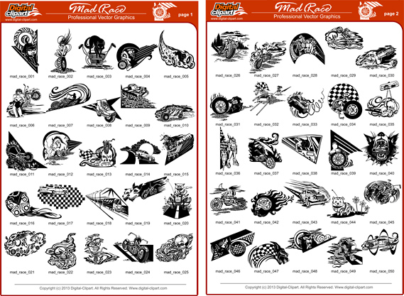 Race Engine Clipart Cuttable Vector Clipart In Eps
