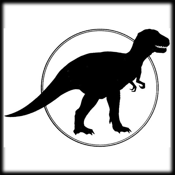 T-rex Silhouette Clipa...