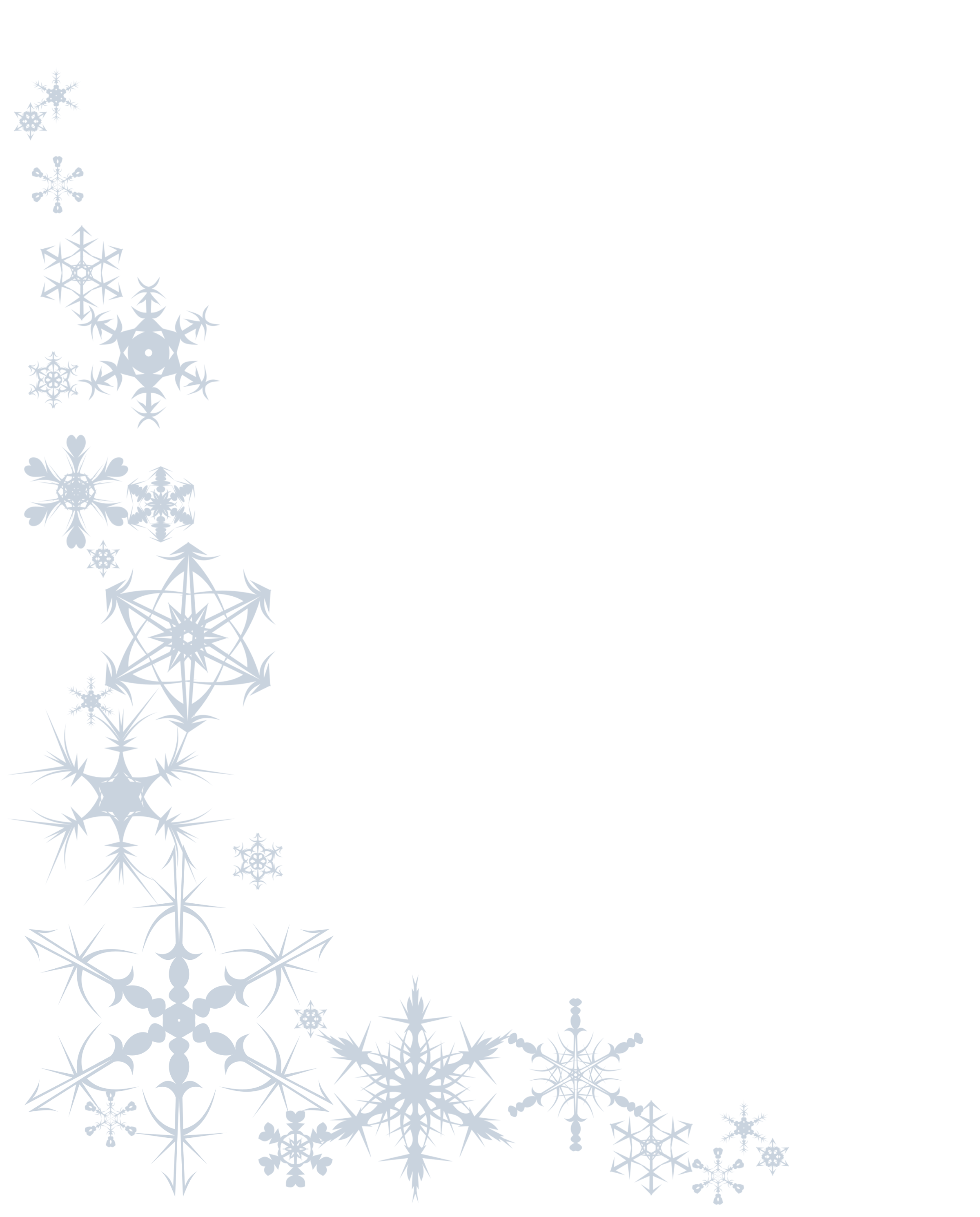 Winter Border: Clip Art, Page Border, and Vector Graphics