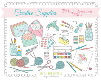 Supplies Clip Art S Et For Personal And Commercial Use Art Supplies