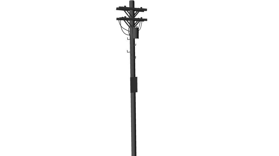 Then Duplicated This Telephone Pole Translated It In The X Axis