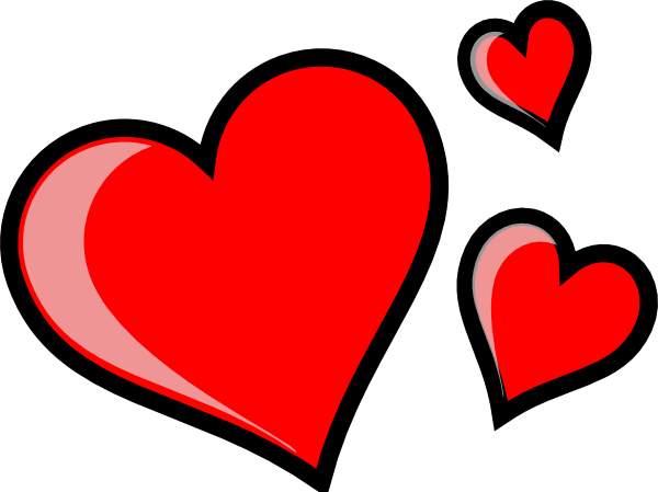 Three Hearts Clip Art At Clker Com   Vector Clip Art Online Royalty