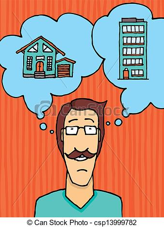 To Live Clipart Man Choosing Where To Live