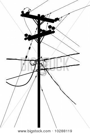 Transmission Tower Silhouette Vector Stock Vector   Stock Photos