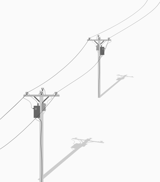 Two Telephone   Utility Poles With Wires Clip Art At Clker Com