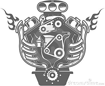 V8 Engine Clipart Racing Engine 17352884 Jpg