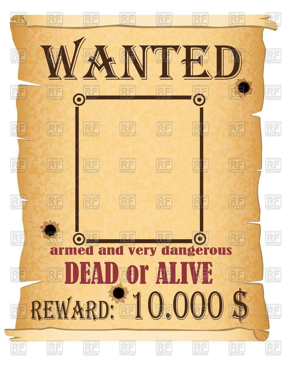 Wanted   Poster With Criminal Announcement 40098 Download Royalty