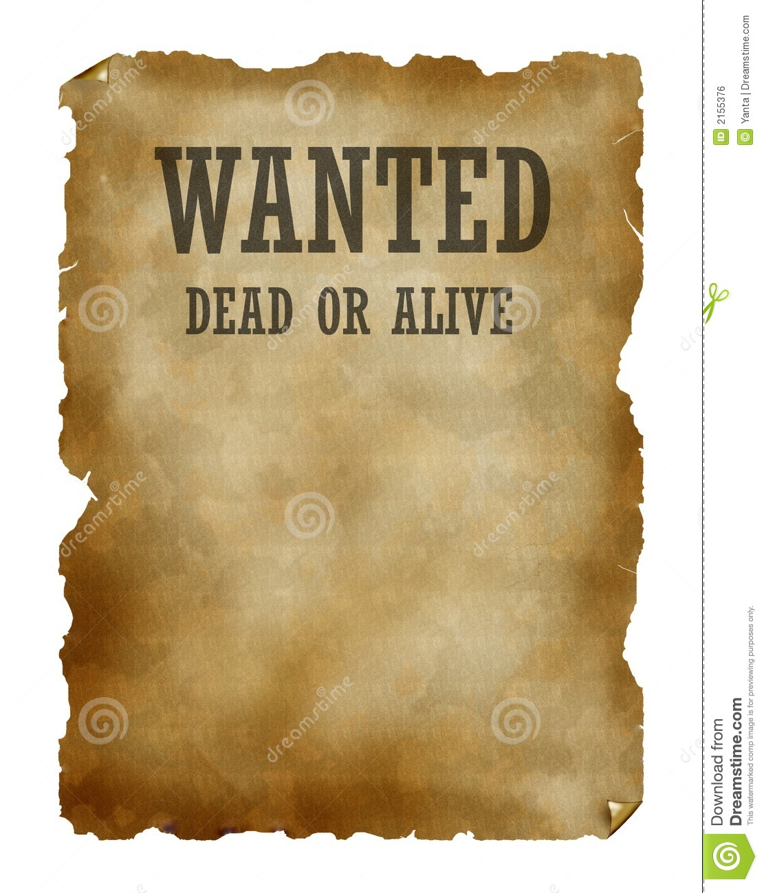 Western Wanted Poster Border Template Chemical