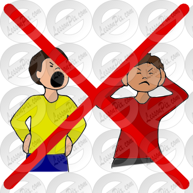 No Yelling Clipart - Clipart Suggest