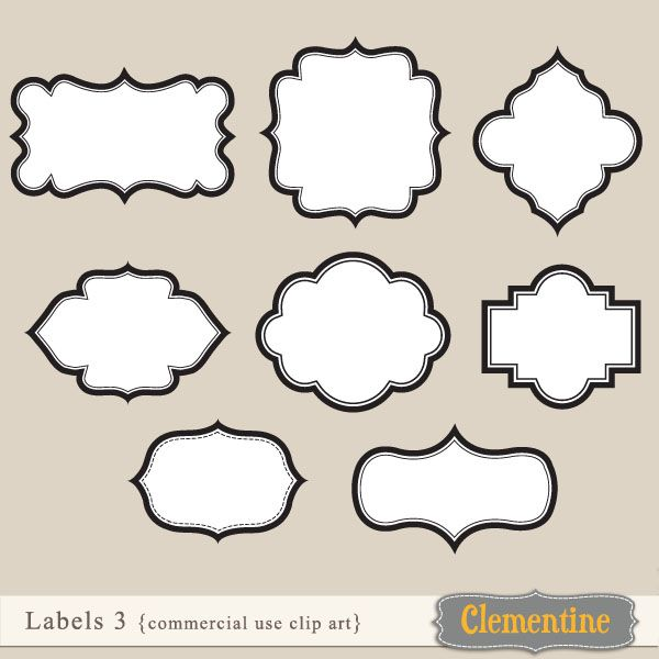 label shapes clipart clipart suggest. Black Bedroom Furniture Sets. Home Design Ideas