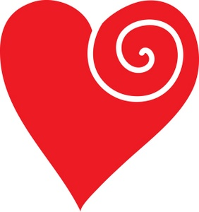 Heart Swirls Clipart - Clipart Suggest