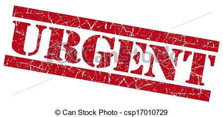 Clip Art Of Urgent Red Grunge Stamp Csp17010729   Search Clipart