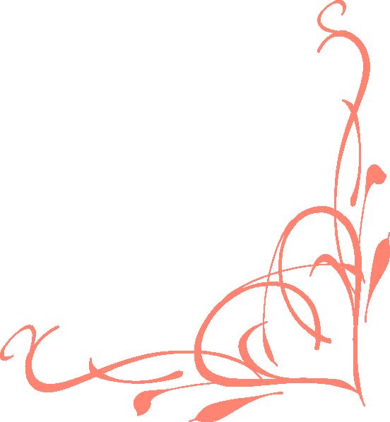 Corner Heart Swirl Clip Art At Clker Com   Vector Clip Art Online
