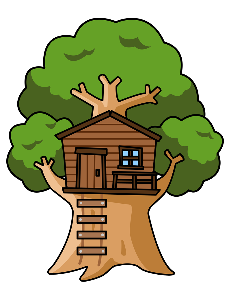 Clip Art Tree House Clipart - Clipart Kid