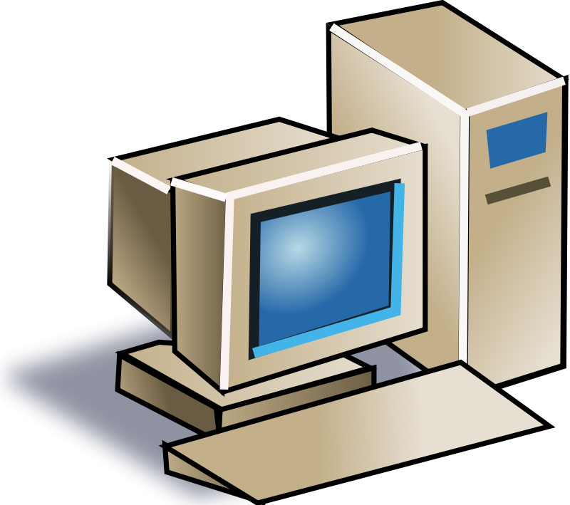 Free Old Style Personal Computer Clip Art