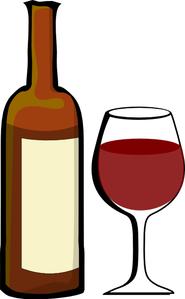 Clip Art Wine Bottle Clipart wine bottle clipart kid glass of with clip art at clker com vector art
