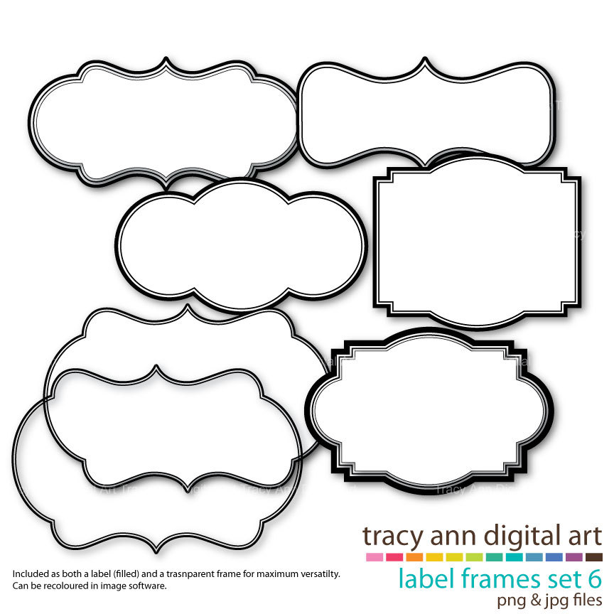 Clip Art Label Shapes Clipart - Clipart Kid