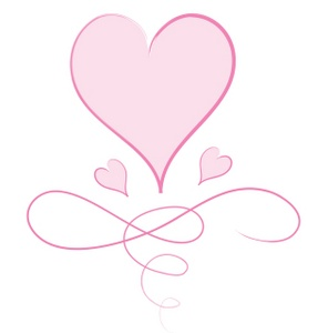 Pink Heart Graphic With Big Heart Little Hearts And Swirls 0515 0910