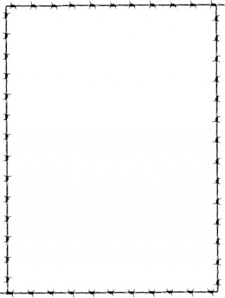 Revans Barbed Wire Border Clip Art Free Vector In Open Office Drawing