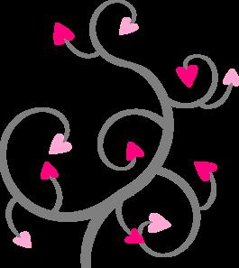 Swirl Hearts Clip Art At Clker Com   Vector Clip Art Online Royalty