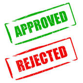 Approved Rejected Stamps   Clipart Graphic