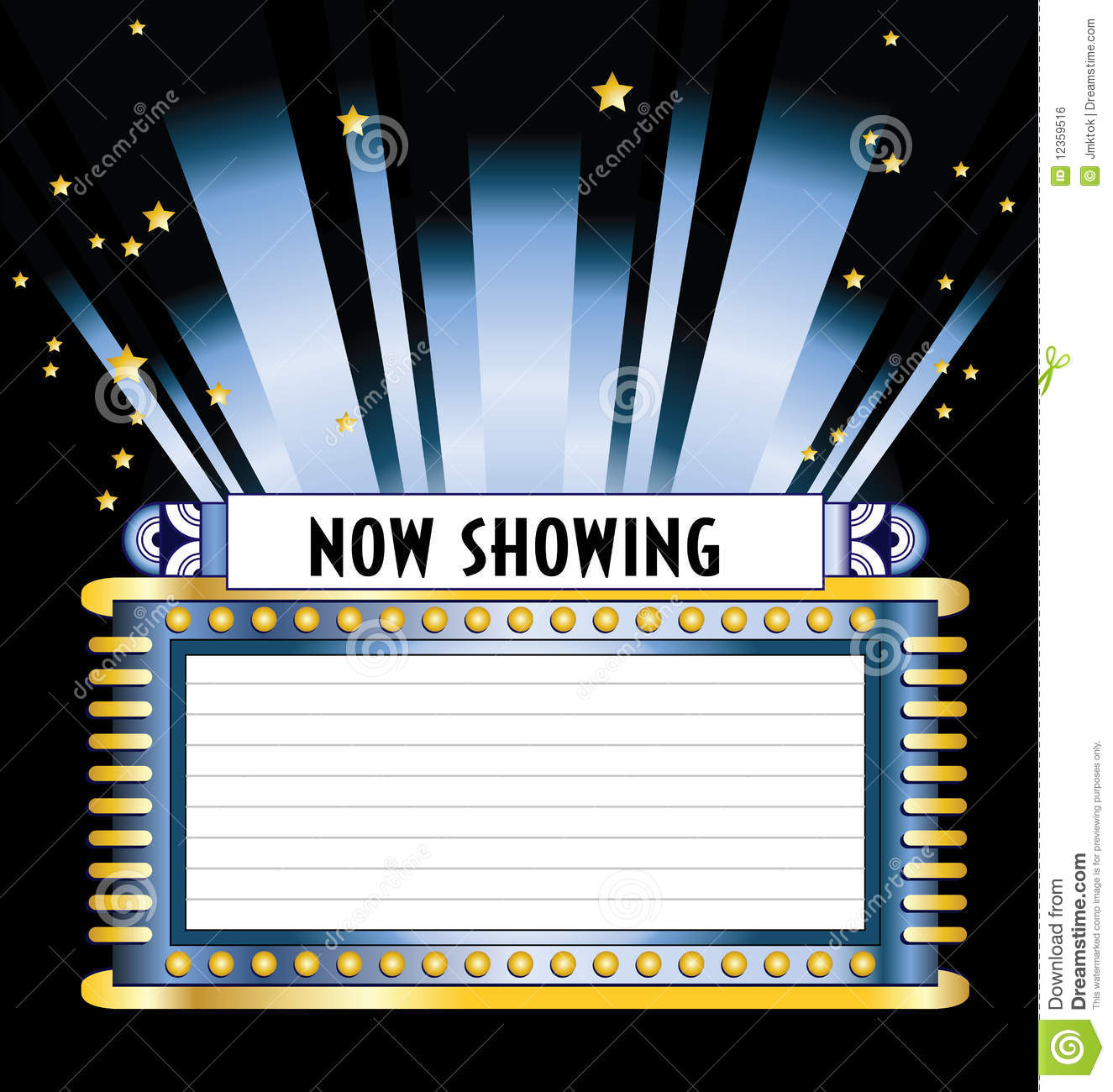 Movie marquee with space for listing of movies t2057y clipart jpg