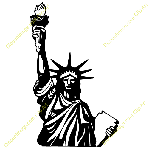 Statue Of Liberty Silhouette Clipart - Clipart Suggest
