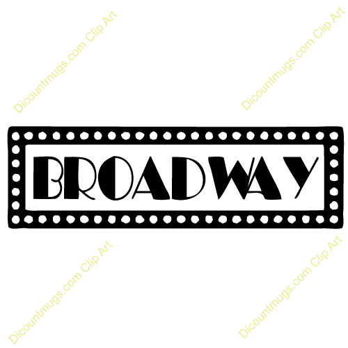 Broadway Lights Border Clip Art