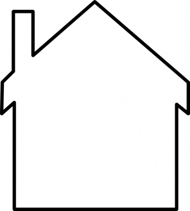 Building House Home Simple Outline Silhouette Cartoon Inside Free