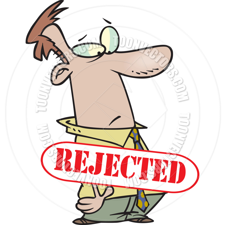 Cartoon Man Rejected By Ron Leishman   Toon Vectors Eps  12045