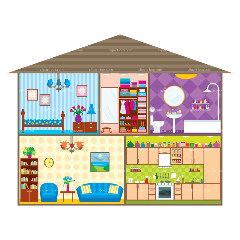Inside House Clipart - Clipart Kid