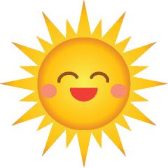 Cute Smiling Sun Clipart - Clipart Kid