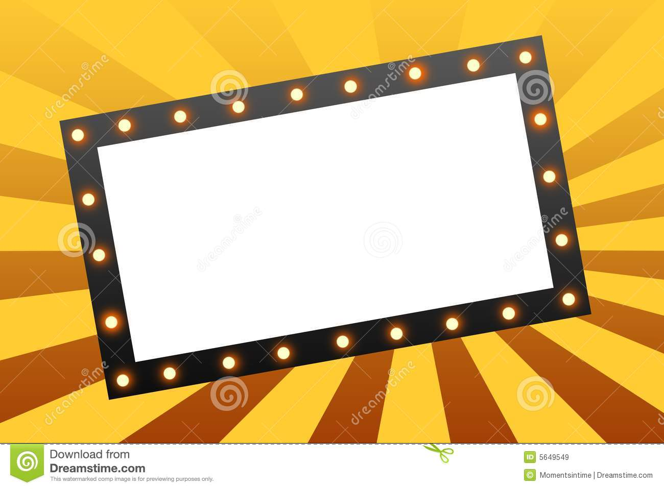 Broadway Lights Border Clipart Marquee Border ...