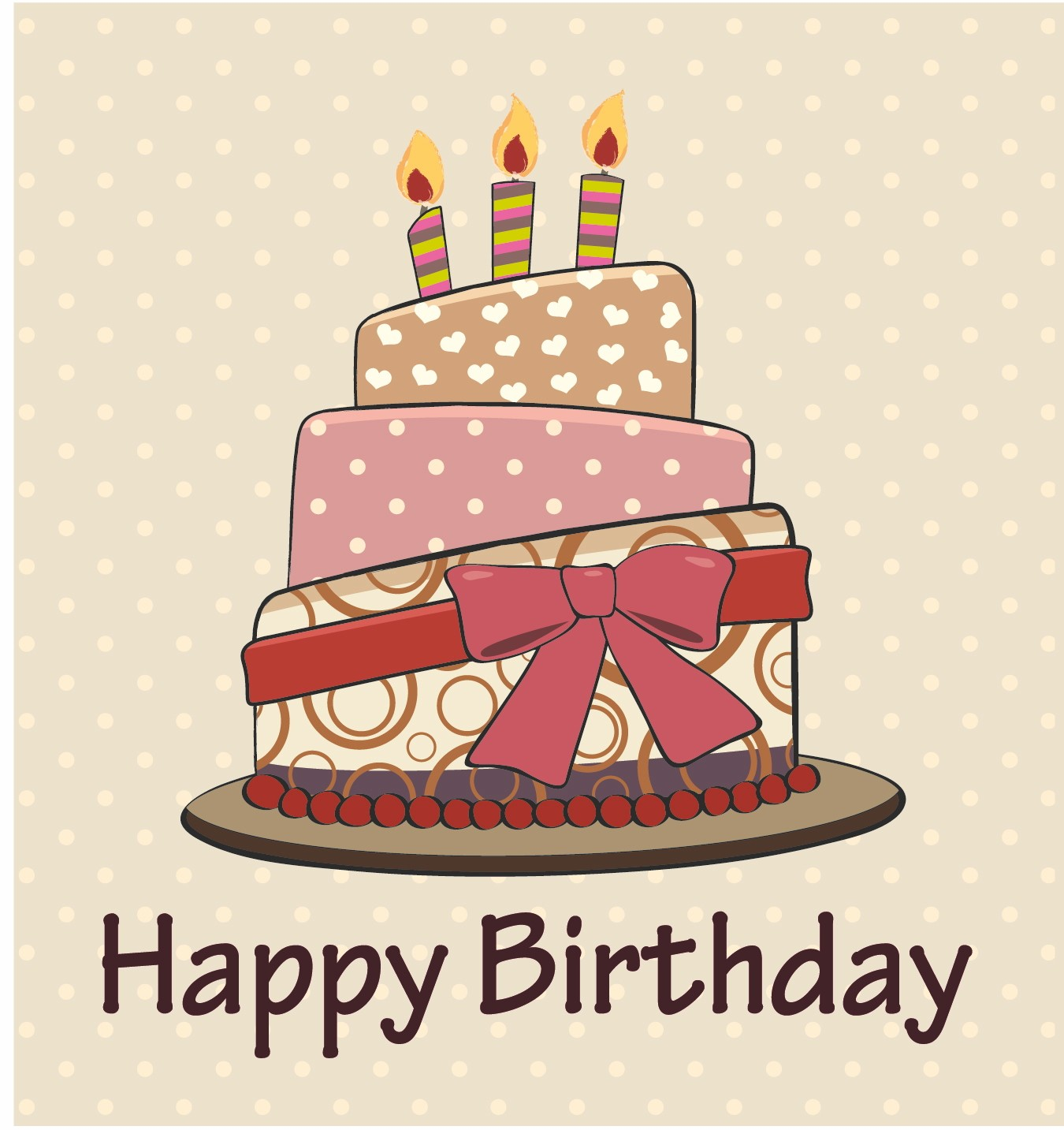 Retro Cake Clip Art : Vintage Happy Birthday Clipart - Clipart Suggest