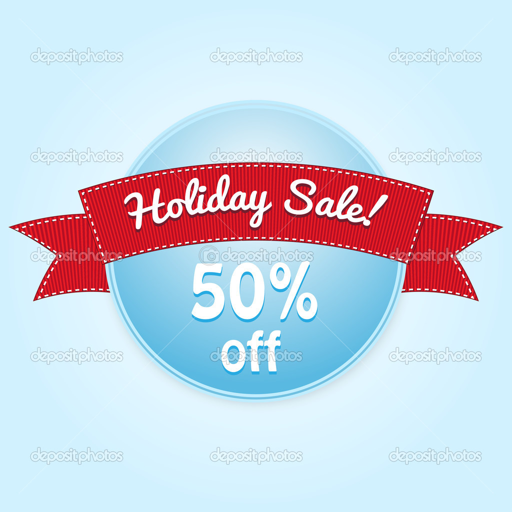Holiday Sale Label  Vector Illustration   Stock Vector   Tonic85