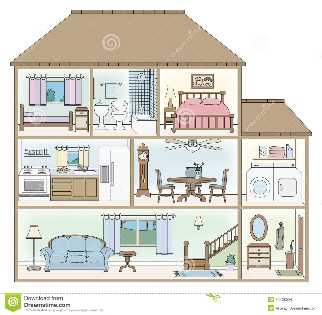 House Cross Section Stock Images   Image  30438004