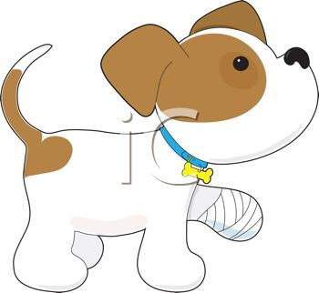 Iclipart   Royalty Free Clipart Image Of A Dog With A Sore Leg